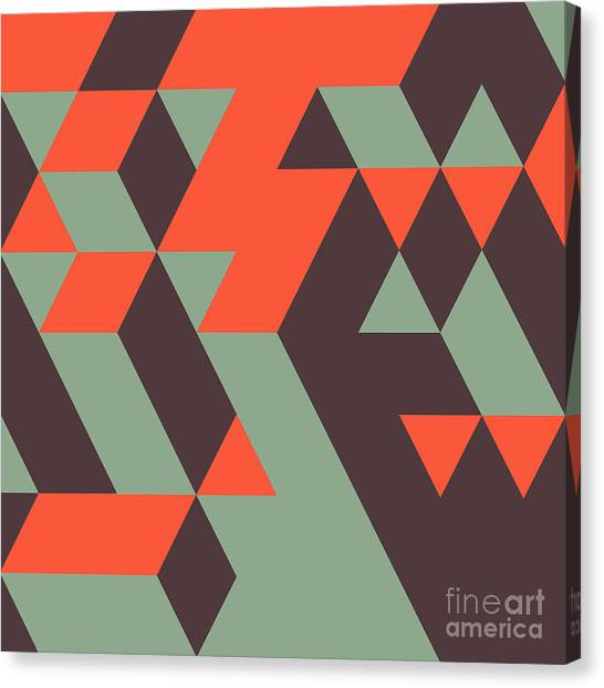 Block Canvas Print - Abstract Geometrical 3d Background. Can by Login