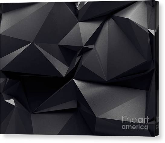 Shadow Canvas Print - Abstract Graphite Crystal Background by Wacomka