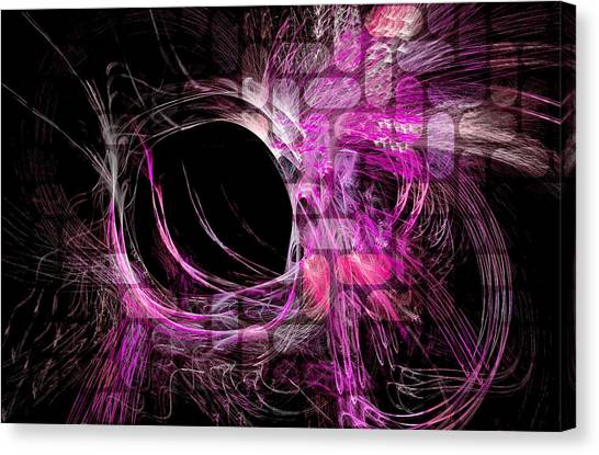 Abstract Heaven Magenta Canvas Print