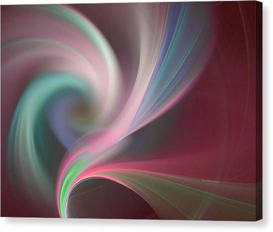 Abstract  In Slow Motion Canvas Print