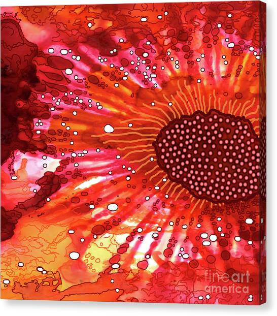 Canvas Print featuring the painting Abstract Ink 21 by Amy E Fraser