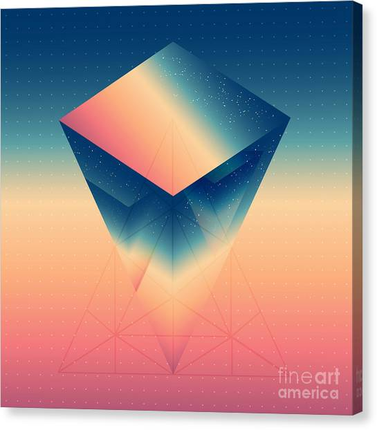 Abstract Isometric Prism With The Canvas Print by Boris Znaev