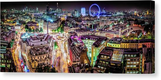 Canvas Print featuring the photograph Abstract London by Stewart Marsden