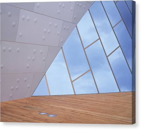 Canberra Canvas Print - Abstract Of Exterior Of National Museum by Photograph By David Messent