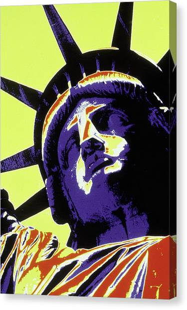 Abstract Of Statue Of Liberty, Nyc Canvas Print