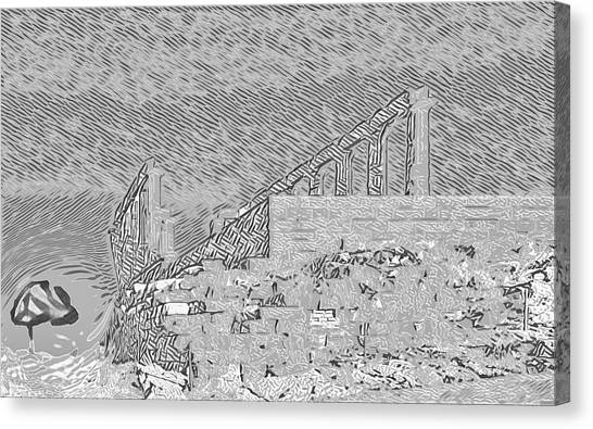 Abstract Of The Temple Of Poseidon Canvas Print
