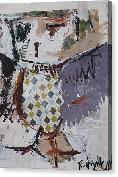 Abstract Owl Art Canvas Print