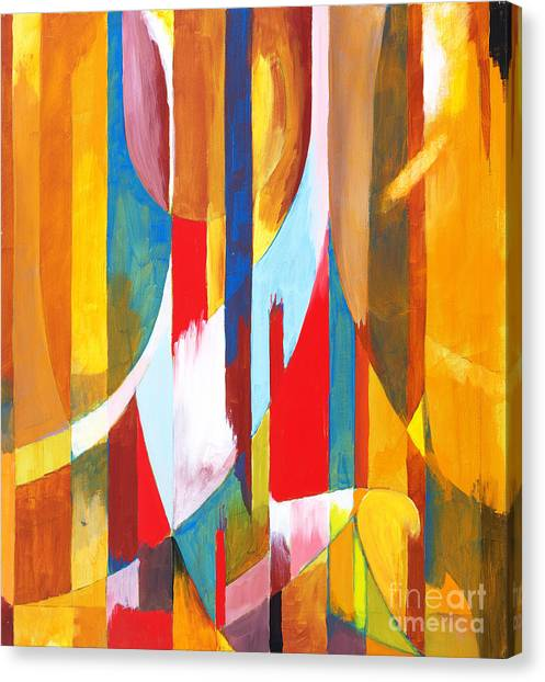 Abstraction Canvas Print - Abstract Painting by Clivewa