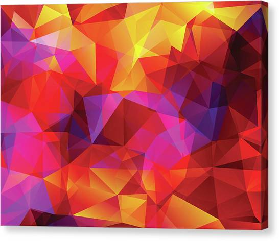 Abstract  Polygonal  Background Canvas Print by Carduus