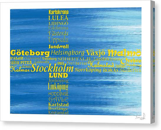 Abstract Swedish Flag  Canvas Print