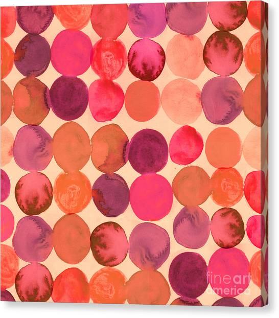 Molecule Canvas Print - Abstract Watercolored Geometric Circles by Markovka
