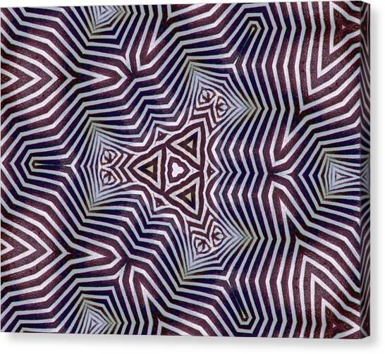 Abstract Zebra Design Canvas Print