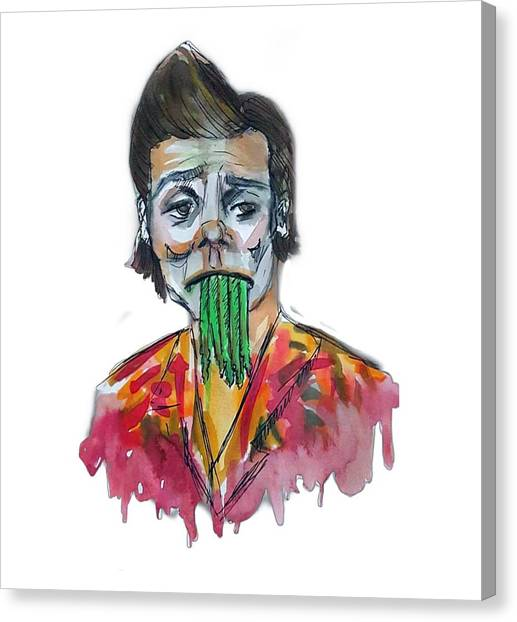 Jim Carrey Canvas Print - Ace Ventura by Jeanette Geant