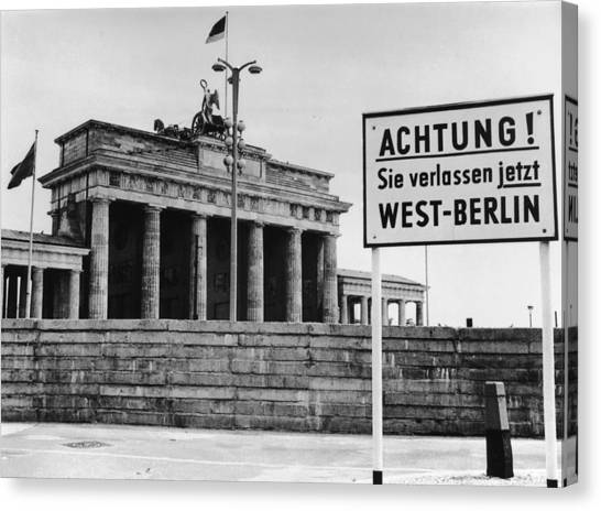 Achtung Canvas Print by Central Press