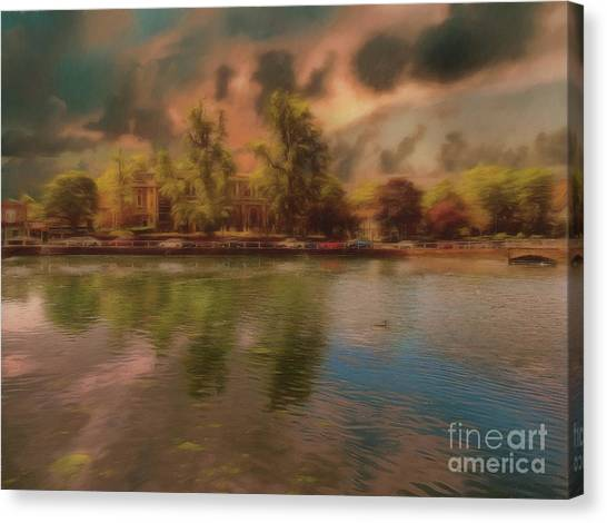 Canvas Print featuring the photograph Across The Water by Leigh Kemp