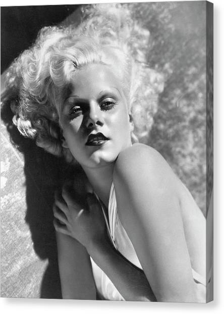 Actress Jean Harlow In Seductive Pose Canvas Print by Bettmann