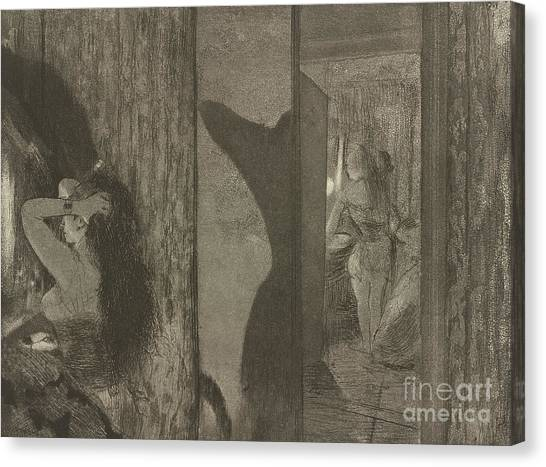 Long Hair Canvas Print - Actresses In Their Dressing Rooms by Edgar Degas