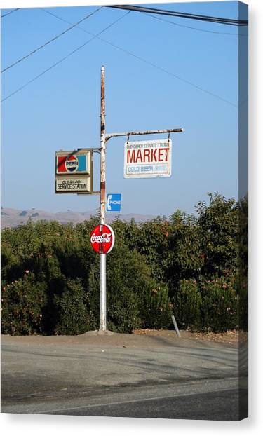 Ad Signs Canvas Print