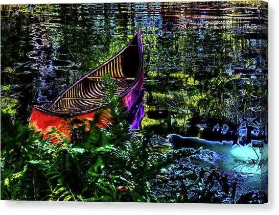 Canvas Print featuring the photograph Adirondack Guide Boat by David Patterson