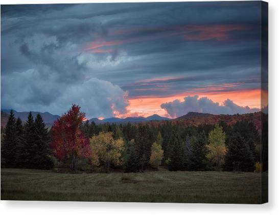 Adirondack Loj Road Sunset Canvas Print