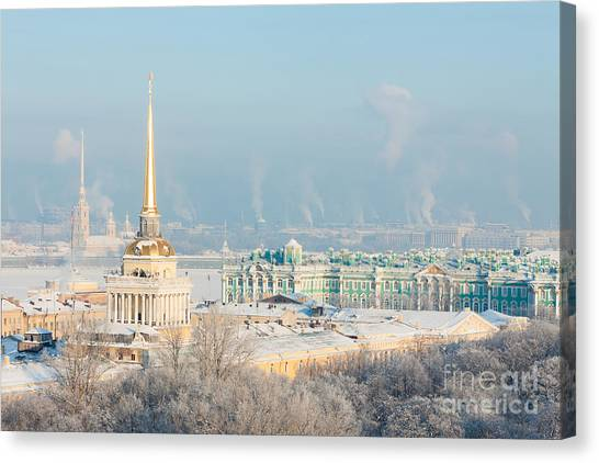 Orthodox Canvas Print - Admiralty, Hermitage, Peter And Paul by Solodov Aleksei