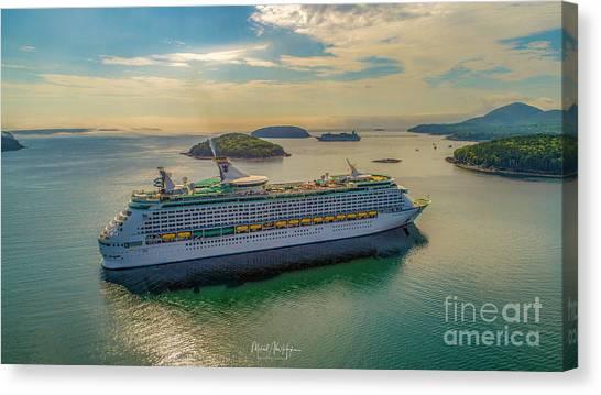 Adventure Of The Seas, Bar Harbor  Canvas Print