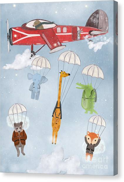 Adventure Skies Canvas Print by Bri Buckley