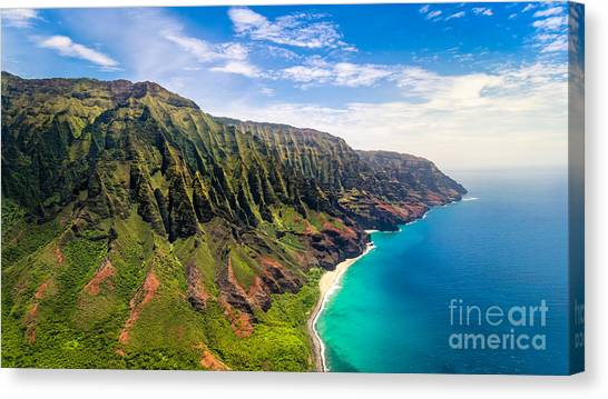 Cliffs Canvas Print - Aerial Landscape View Of Spectacular Na by Martin M303