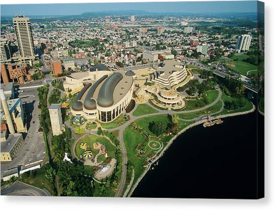 Gatineau Park Canvas Print - Aerial Of Canadian Museum Of by Russ Heinl
