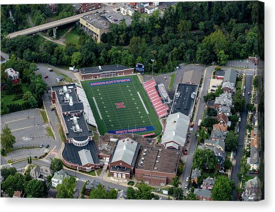 Aerial Of Mhs Football Field And School Canvas Print