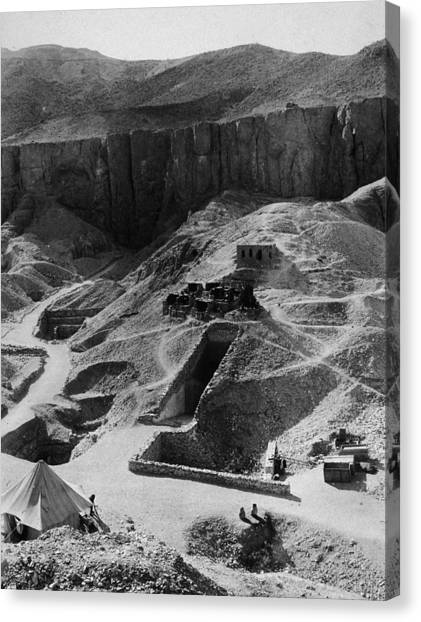 Aerial Of Valley Of The Kings Canvas Print by Hulton Archive