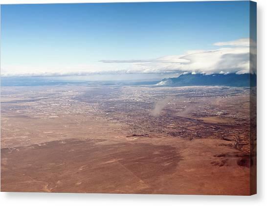 Rio Grande River Canvas Print - Aerial View Of New Mexico Rio Grande by Ivanastar