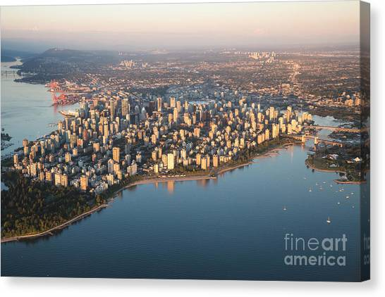 Vancouver Canvas Print - Aerial View Of Stanley Park And by Eb Adventure Photography