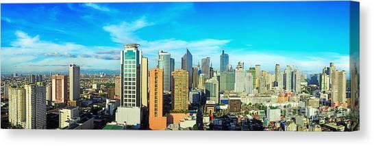 Urban Life Canvas Print - Aerial View On Makati City - Modern by Joyfull