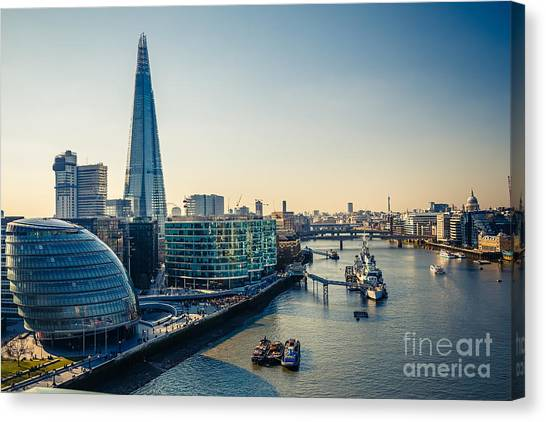 British Canvas Print - Aerial View On Thames And London City by S.borisov
