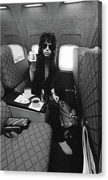Steven Tyler Canvas Print - Aerosmith In Flight by Fin Costello