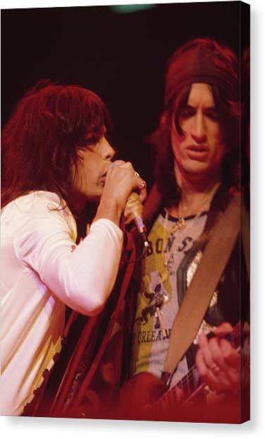 Steven Tyler Canvas Print - Aerosmith Live by Fin Costello