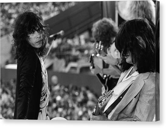 Steven Tyler Canvas Print - Aerosmith Performs Live by Richard Mccaffrey