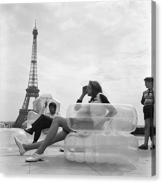 Aerospace Furniture At Trocadero In 1967 Canvas Print