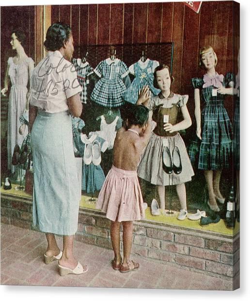 African American Ondria Thornton Window Canvas Print