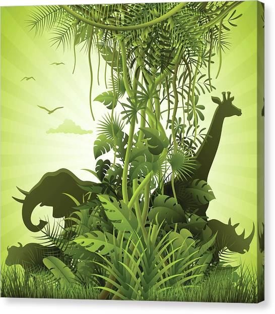 African Savannah Canvas Print by Alonzodesign
