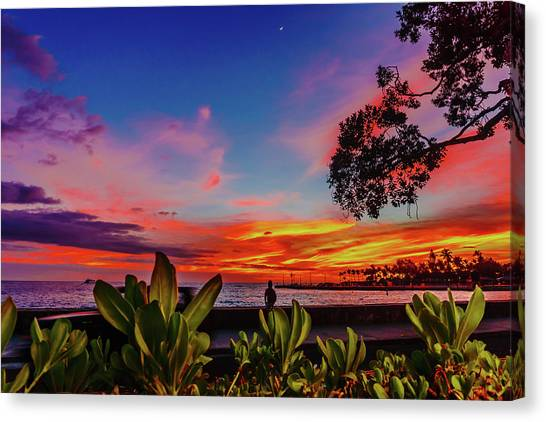 After Sunset Colors Canvas Print