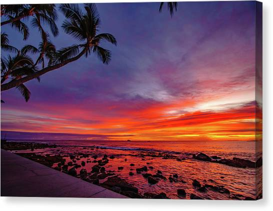 After Sunset Vibrance Canvas Print