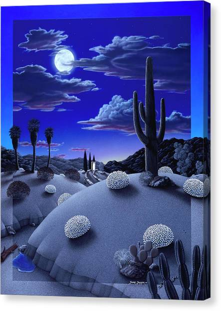 Full Moon Canvas Print - After The Rain by Snake Jagger