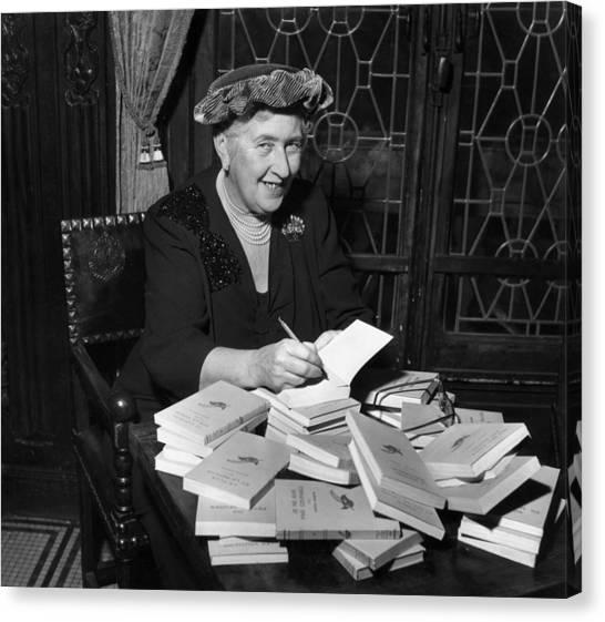 Agatha Christie Canvas Print by Hulton Archive