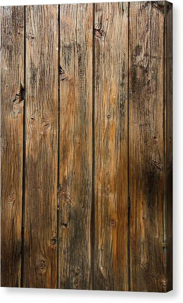 Aged Wooden Background With Vertical Canvas Print