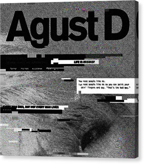 Suga Canvas Print - Agust D by Lala Lily