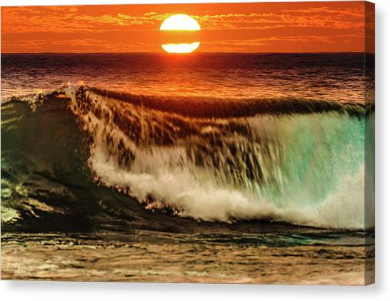 Ahh.. The Sunset Wave Canvas Print