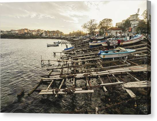 Ahtopol Fishing Town Canvas Print