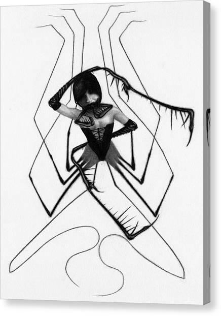 Aiko The Mistress Noir - Artwork Canvas Print
